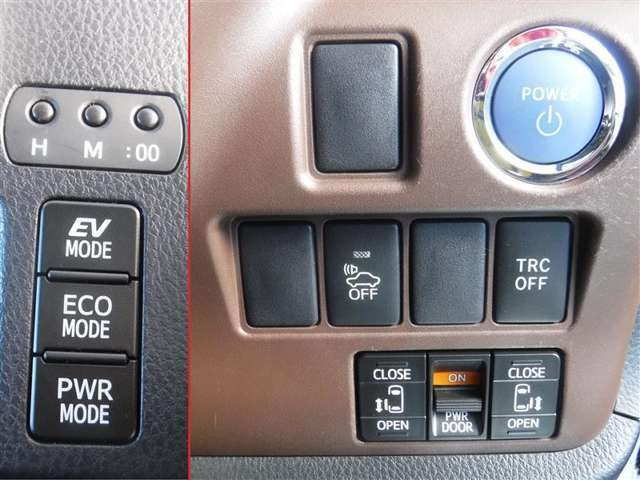カバンやポケットなどにキーを入れたままでもドアの施錠・解錠や、エンジンの始動をワンプッシュで行うことが可能です。両側スライドドアは電動で開閉できます。手荷物などで手が塞がっている際にとても便利です。