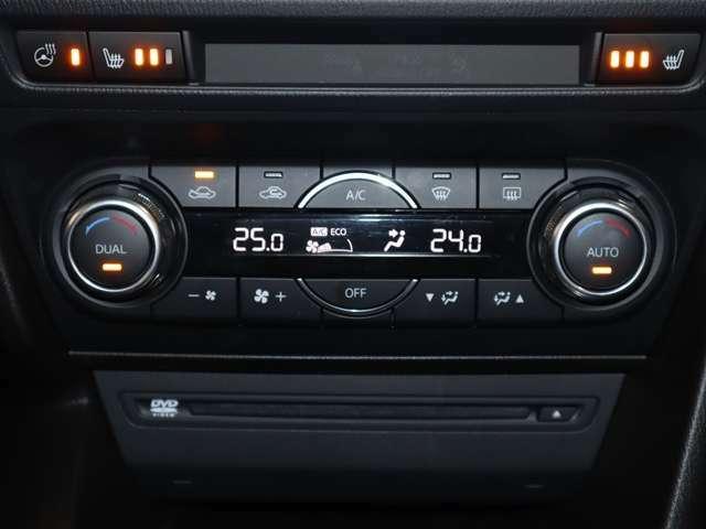 左右別々の温度設定ができるので、自分だけの温度が設定できます。温度を設定して頂ければ吹き出し口・風量が自動調整されますので快適です。もちろん、手動での設定もできます。