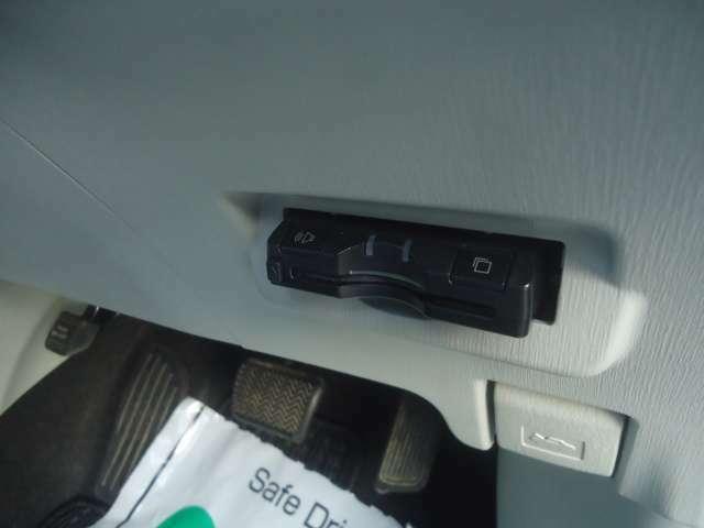 ETC車載器付きです。高速道路走行時もお任せください。