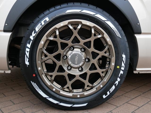 BRUT BR55ブロンズ 17インチアルミ  ファルケンW11ホワイトレタータイヤ