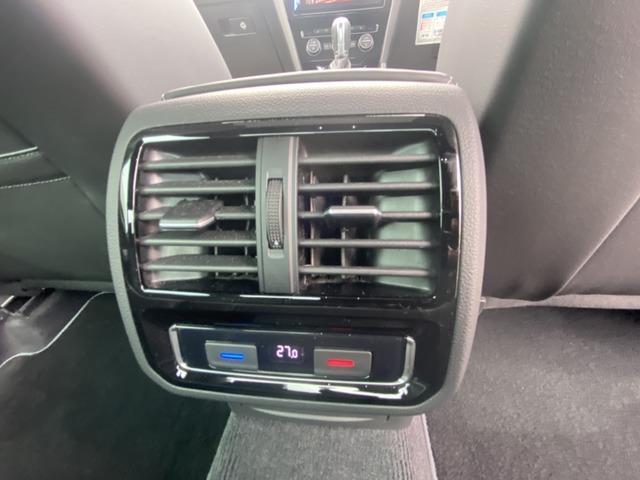 後席用温度設定ボタン