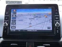 日産純正9インチメモリーナビ(MM320D-L)装備、NissanConnectマイカーアプリ対応、オペレーター通話や音声対話検索、スマホアプリと連動などに対応した高機能ナビ。初回車検まで3回地図更新が無料です