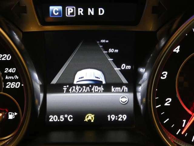 ディスタンス・パイロット(前車追従型レーダークルーズコントロール)、左右後方の死角になる個所を走行する車輌を検知・警告するアクティブブラインドスポット等のレーダーセーフティPKGが採用されております!