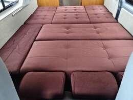 ダイネットベッド展開時寸法「190×150」