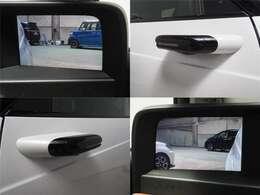 サイドカメラミラーシステム(LEDウインカー付)ドアミラーが装着される部分にカメラユニットを搭載。後方視界を撮影し車内のディスプレーに表示します。