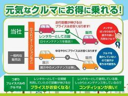フェイスパルの中古車は、仕入れ後、レンタカーとして使用いたします。車も人と同じ!メンテナンスをばっちり行われた新鮮なお車を選ぶかは、お客様次第です!!