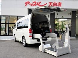 トヨタ ハイエースバン 2.0 ウェルキャブ Bタイプ ロング 禁煙 リフト 車椅子固定装置 収納装置