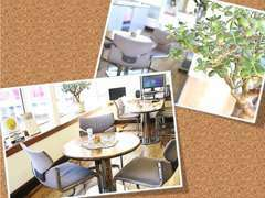 店内の様子です☆快適にお過ごし頂ける様、いつもキレイな空間作りを心がけております(#^.^#)