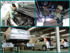 サービス工場完備!点検・車検・整備もお任せください。