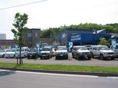 広い展示場には、人気のクロカンSUVから低燃費のコンパクト・軽自動車まで幅広いラインナップを取り揃えております。