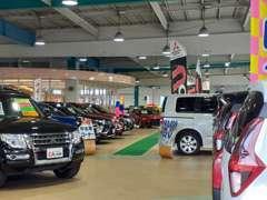 屋内展示場だから、雨の日や雪の日でも気になるお車をゆっくりと見て頂く事ができます!