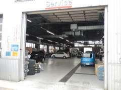 ご購入後のアフターサービスも任せて下さい!工場を併設してますので、車検・整備・点検・修理などプロが実施します。