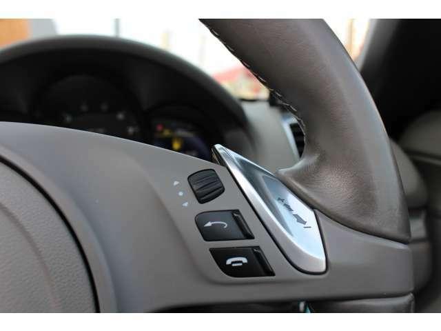 親指位置に配置されたシフトスイッチでマニュアルのようなシフトワークで力強いかつ爽快な走りをお楽しみ頂けます。