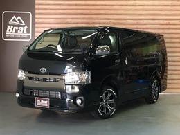 トヨタ ハイエースバン 3.0 スーパーGL ダークプライム ロングボディ ディーゼルターボ 4WD 禁煙車 新品バルベロ16AW TRDフルエアロ