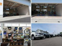 大型の認証工場を併設しており、車検から日常点検まで安心してお任せいただける環境を整えております。ナビ・ドライブレコーダー等各種部品の取り付けも承っており、デモ機で使用感を確認いただく事も可能です。
