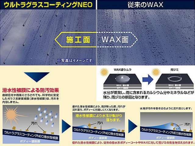 Bプラン画像:愛車の輝きを長期間保護する新世代コーティング★愛車を紫外線から保護します。さらには水が流れる滑水性被膜により汚れが付着しにくい防汚効果!普段のお手入れは水洗いでうOKですよ。