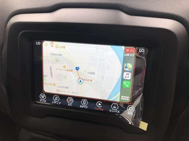 新型7インチタッチパネル式ディスプレイ。Bluetooth・USB・AUX・AppleCarPlayが対応しています。