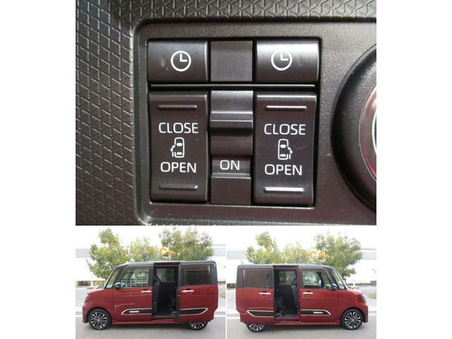 乗り降りに便利なパワースライドドア☆ドアノブやリモコンスイッチの操作だけで電動開閉ができます!半ドア防止機能や開閉中の挟み込み防止機能も付いており便利です!