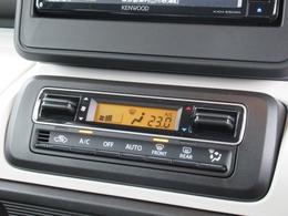 車内温度を設定すれば温度・風量と自動に設定してくれるオートエアコンはとっても便利な装備ですね♪