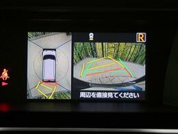 【アラウンドビューモニター】!空の上から見下ろすような視点で駐車が可能☆前後左右の状況を把握でき、安心して駐車が可能です!