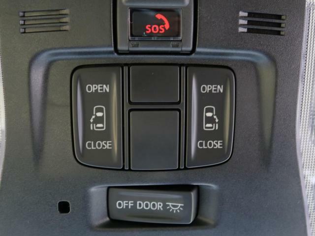 両側電動スライドドアが装備されているので、小さなお子様でもボタン一つで楽々乗り降り出来ます♪駐車場で両手に荷物を抱えている時でもボタンを押せば自動で開いてくれますので、とっても便利な人気装備です♪