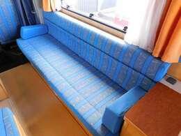 横すわりソファ ベッド展開時サイズ 長さ185cm幅100cm