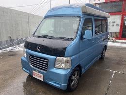 ホンダ バモスホビオ 660 ターボ 4WD ポップアップルーフFFヒーターサイドタープ