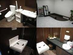 ★キッズスペース・トイレ★女性用には、おむつ台もご用意しています。乳幼児を連れてのご来店もご安心下さい★