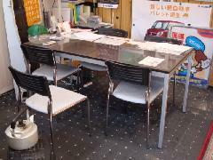 商談席です。明るく清潔なスペースです。