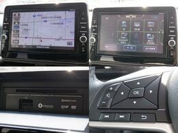 現在では必需品のナビが装備されています。行きたい場所への案内をしてくれるので、道に迷わずドライブができます♪オーディオはフルセグTV・AM/FMラジオ・CD/DVD・Bluetoothが使用可能。快適ドライブの強い味方です