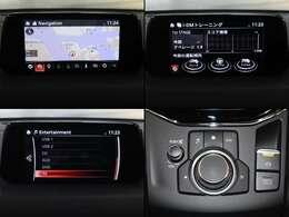 ●マツダコネクト    4コマセンターディスプレイにナビやフルセグTV(走行中は音声のみ)などのエンターテーメント機能を凝縮したマツダコネクト。Bluetooth・ハンズフリー電話等もできます。