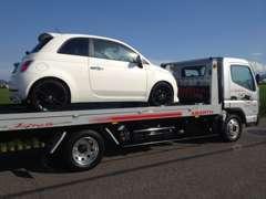 フルフラットの積載車完備で車高の低いお車もOKです!納車・陸送等もお問い合わせ下さい。