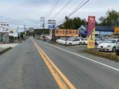熊本インターより第一空港線へ、熊本空港方面へ車で約15分、このように見えます。お気軽にご来店ください!