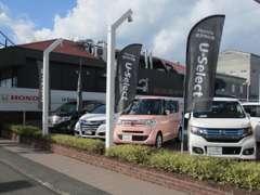 Nシリーズ軽自動車から1BOXステップワゴンまで多数ホンダ車展示
