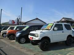 軽の4WD車も在庫ございます。ジムニーやパジェロミニ等をお探しであれば先ずは当社へお問い合わせ下さい!!