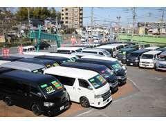 展示車両は全車、第三者車両検査機関による車両状態評価書付!保証付!品質と展示車数には自信があります!(photo:第1展示場)
