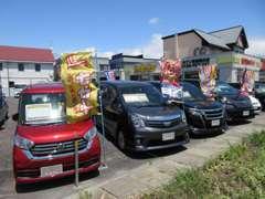 【展示車多数!】人気の軽自動車から、軽トラック、セダン、ミニバン、SUVと、状態の良いお車を種類豊富に揃えております!!
