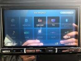 最新地デジフルTVナビ。DVD再生、音楽録音、Bluetooth搭載。走行中もTV映ります。