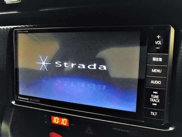 社外SDナビ【Strada/CN-S300WD】装着!!☆フルセグTV視聴☆SDミュージック☆Bluetooth接続☆USB入力端子☆DVD/CD再生機能付きになります。