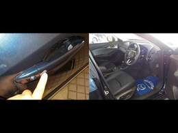 この黒いポッチをポチっと押してください!・・・はい、すいません(笑)さぁ、運転席へ行ってみましょう!!!