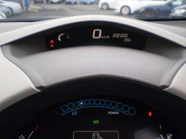 デジタルの表示で、運転をサポートします。