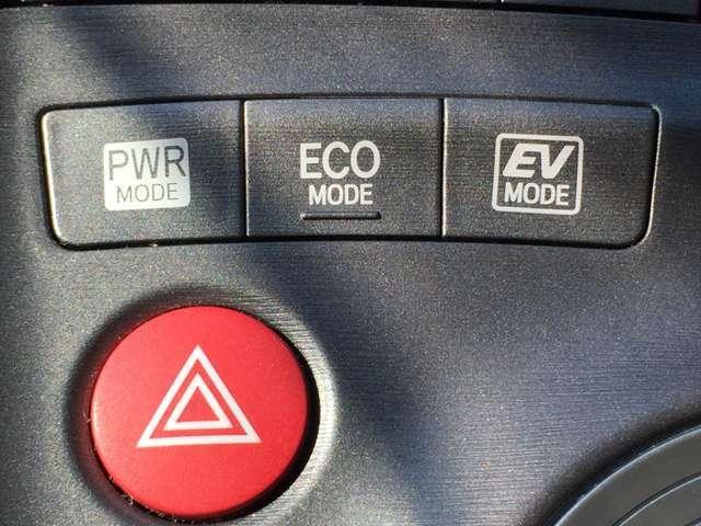 「ECOモード」エンジンの回転数を制限することにより燃費が向上します。