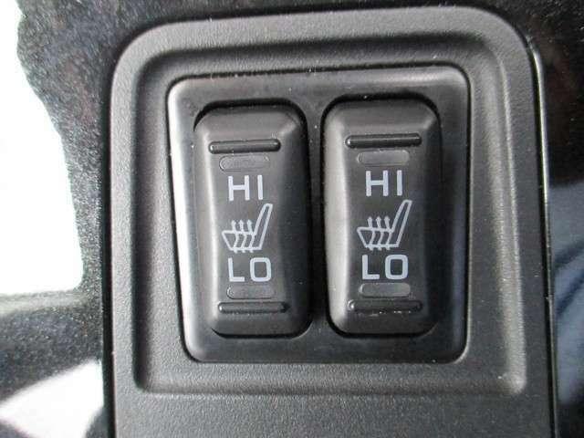 シートヒーター付で寒い冬には嬉しい装備ですね。