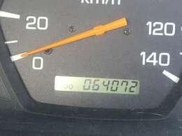 走行64000キロ台と少ないです