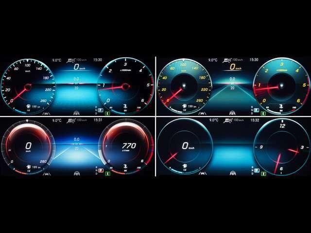 ≪10.25インチコックピットディスプレイ≫ 速度計、タコメーター、アシスタンスシステムやナビ案内など必要情報を見やすく表示。『スポーツ』『コンフォート』『プログレッシブ』等4つの表示モードを選べます