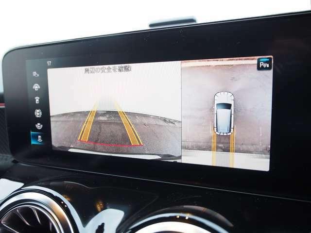 ≪360°カメラシステム≫ 真上から自車を見下ろすように、周囲の状況を映像で確認することで、車両周辺の状況が直感的に把握できます。 駐車が苦手な方でも死角を補うことで安心して運転することができます。