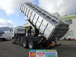 日野自動車 プロフィア 粉粒体運搬車 プライムポリプロ 3軸1デフ ダンプ式 後方排出 極東開発 10.3t積み