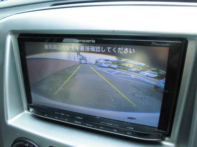 バック時に後方の安全を確認できるバックカメラを装備しています。駐車、車庫要れ時の強い味方です。