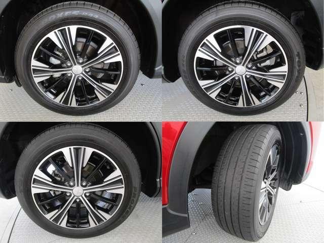 純正18インチアルミホイール タイヤサイズは225/55R18 スタッドレスタイヤ用に16インチへのインチダウンも可能です