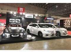 東京オートサロンにて、エルグランド レクサスRX NISSAN☆GT-R用の3車種を発表!!